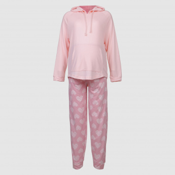 Maternity Sweatshirt and Pyjama Set
