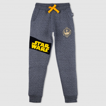 Star Wars Print Quilted Jog Pants