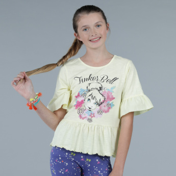Tinker Bell Print Short Sleeves T-Shirt