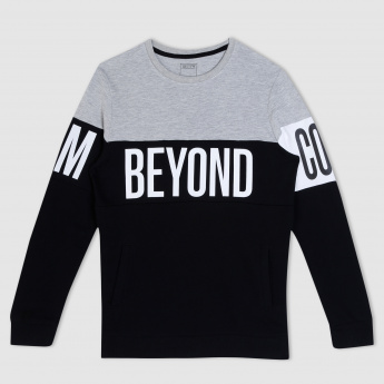 Printed Long Sleeves Sweatshirt
