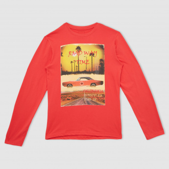 Graphic Printed Long Sleeves T-Shirt