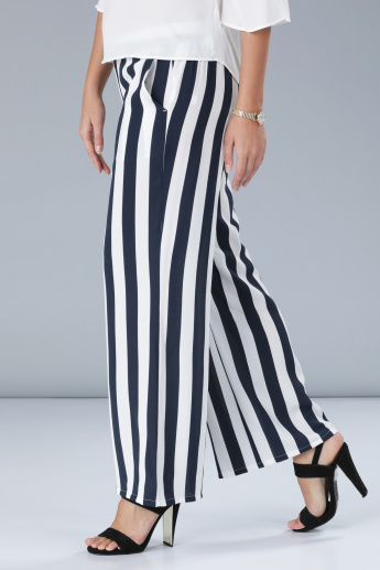 Striped Wide Fit Palazzos