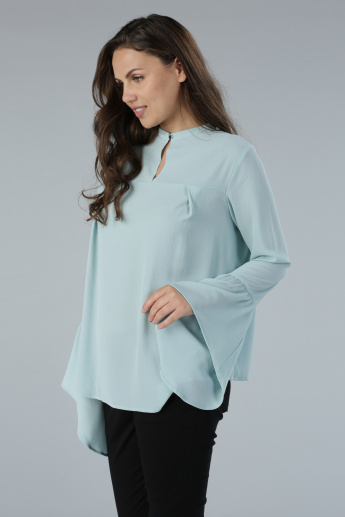 Bell Sleeves Top in Regular Fit
