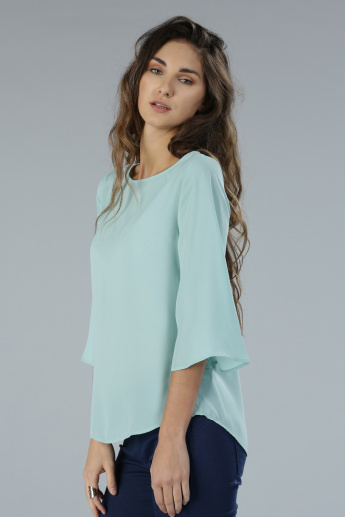 Boat Neck 3/4th Sleeves Top