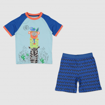 Printed T-Shirt and Short Set