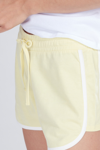 Piping Detail Shorts with Drawstring