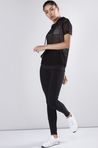 Cut and Sew Active Leggings in Slim FIt