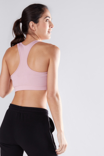 Printed Sports Bra with Racerback