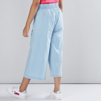 Paper Bag Waist Culottes with Pocket Detail