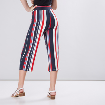 Striped Culottes with Tie Up Detail
