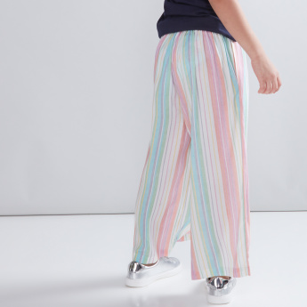 Striped Culottes with Pocket Detail and Tie Ups