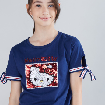 Hello Kitty Sequin Detail T-Shirt