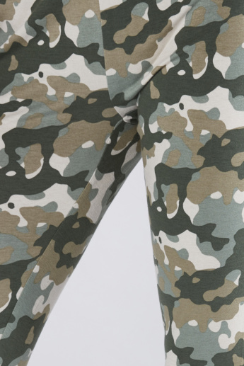 Camouflage Printed Leggings with Elasticised Waistband