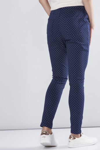 Printed Jeggings with Pocket Detail