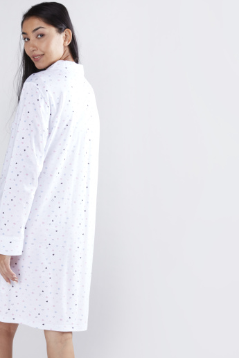 Printed Sleepshirt with Long Sleeves - Set of 2