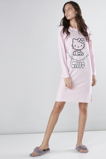 Hello Kitty Printed Sleep Dress