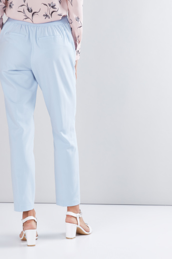 Pocket Detail Trousers with Elasticised Waistband