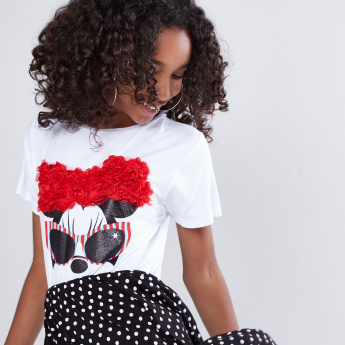 Minnie Mouse Printed 2-in-1 Dress