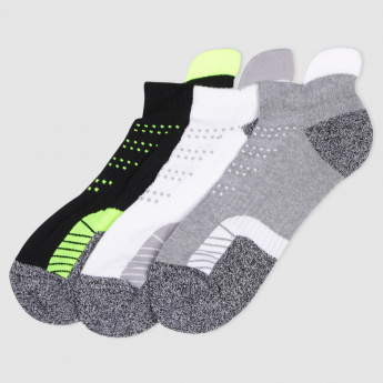 Woven Ankle Socks - Set of 3