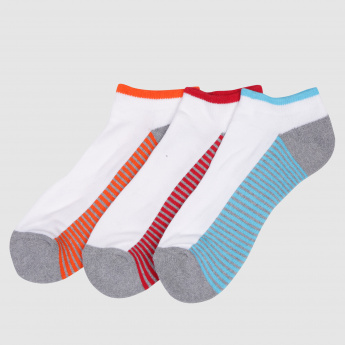 Striped Ankle Socks - Set of 3