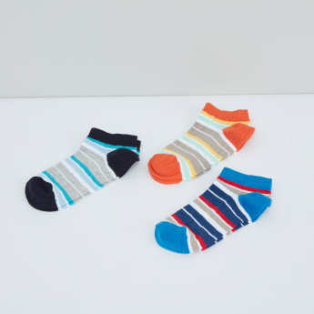 Striped Ankle Length Socks - Set of 3
