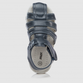 Hook and Loop Sandals with Stitch Detailing