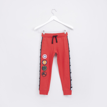 Avengers Applique and Tape Detail Jog Pants with Drawstring
