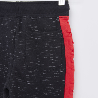 Printed Shorts with Drawstring and Side Panel Detail