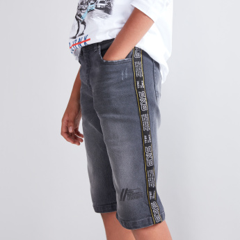Tape and Pocket Detail Shorts
