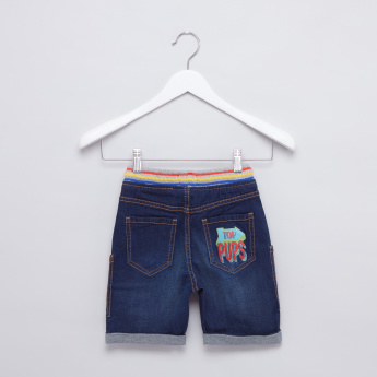 PAW Patrol Embroidered Applique Shorts with Drawstring