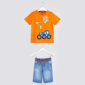Printed T-Shirt with Shorts