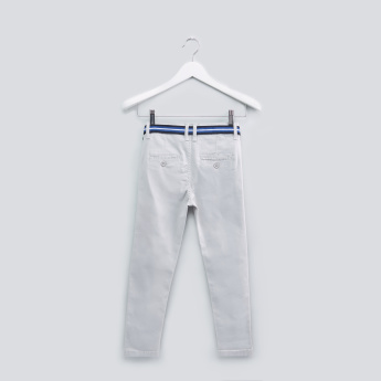 Pocket Detail Pants with Belt