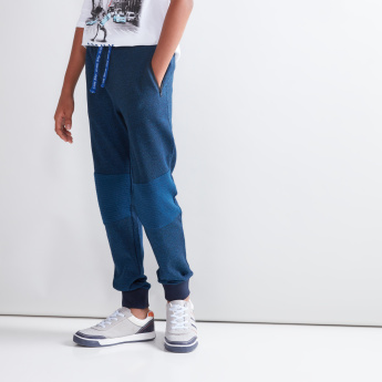 Stitch Detail Jog Pants with Pocket Detail and Drawstring