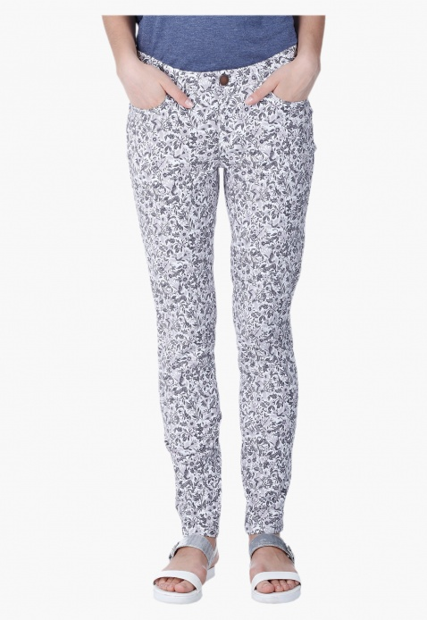 Printed Stretch Trousers