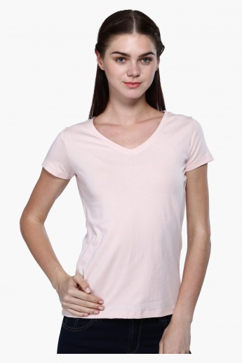 V-Neck Top with Short Sleeves