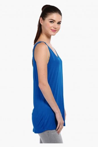 Sleeveless Round Neck T-Shirt