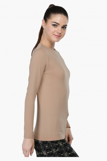 Round Neck Top with Long Sleeves