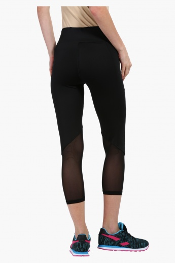 Capris with Mesh Insert