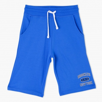 Knee Length Shorts with Elasticised Waistband