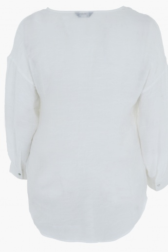 Long Sleeves Top with V-Neck