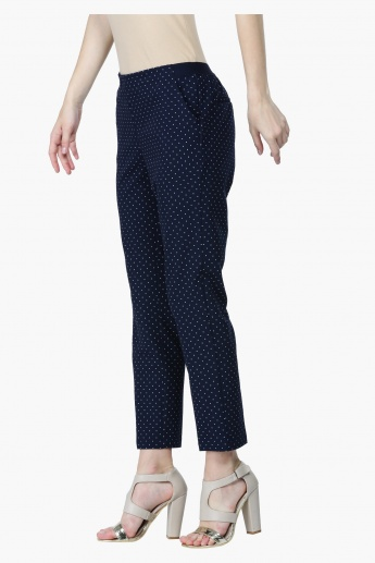 Polka Dots Mid-Rise Chino Pants in Straight Fit