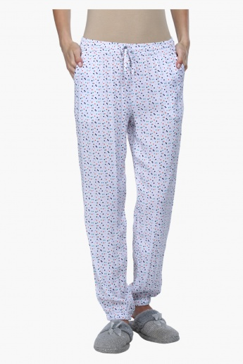 Printed Full Length Pyjamas with Elasticised Waistband