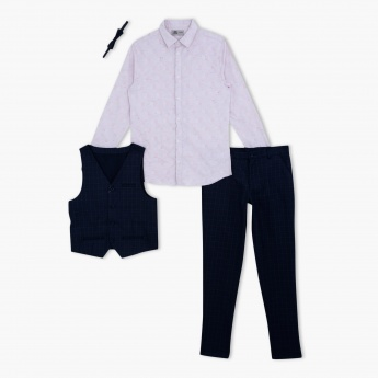 Long Sleeves Shirt with Waist Coat and Pants