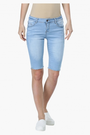 Knee Length Skin Fit Shorts