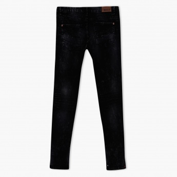 Textured Full Length Jeans