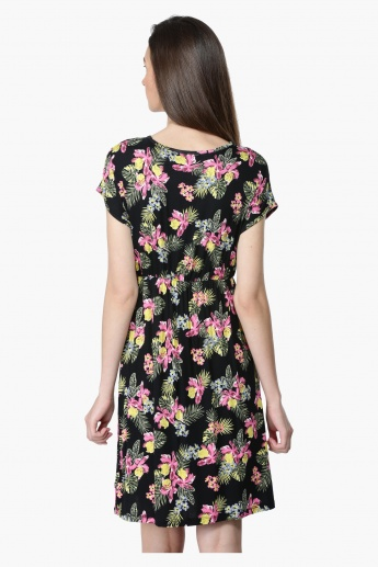 Printed Short Sleeves Dress