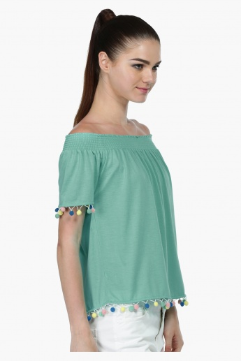Off-Shoulder Top with Short Sleeves