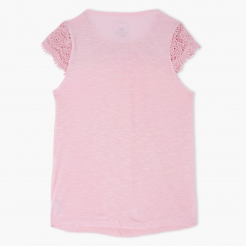 Round Neck Short Sleeves Top