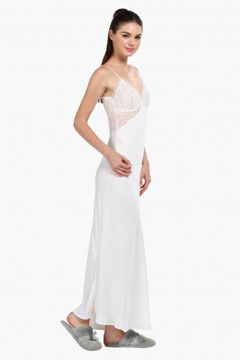 Lace Sleep Gown with Spaghetti Straps