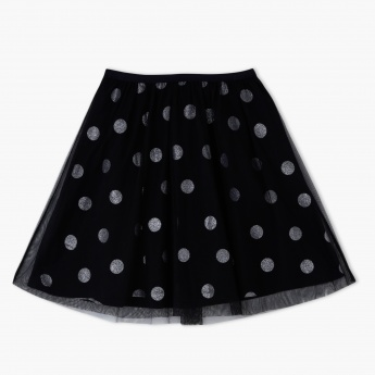 Hello Kitty Printed Skirt with Elasticised Waistband